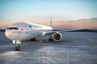 サンセットタイム到着が嬉しい直行便/ガルーダ・インドネシア航空(B777-300ER)