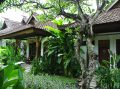 お庭が楽しめる専用テラス付きバンガロー