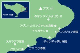 バリ島 東部エリアマップ