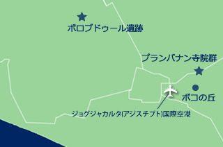 ジョグジャカルタの観光マップ