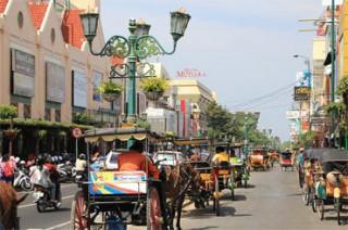 マリオボロ通りの馬車