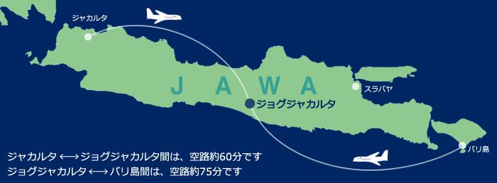 ジョグジャカルタのマップ
