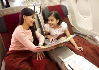 ビジネスクラス:ファミリー旅行にもおすすめ/A330ビジネスクラス(1例)