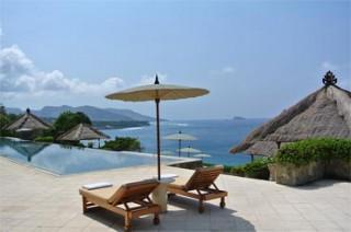 レストランからの雄大なインド洋の眺め/アマンキラ